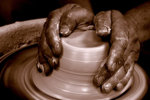 Potter and Hands